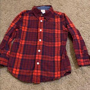 Plaid Boys Shirt